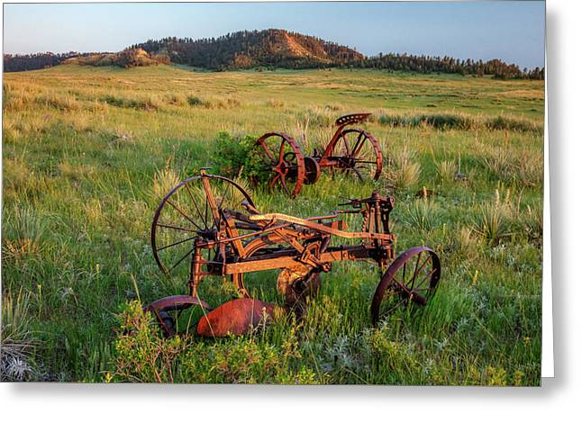 Rusty Machinery Greeting Card by Todd Klassy