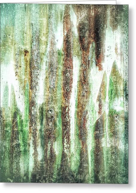 Rusty Metal Background  Greeting Card by Tom Gowanlock