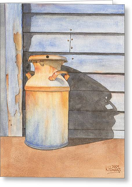 Rust Greeting Cards - Rusty Milk Greeting Card by Ken Powers