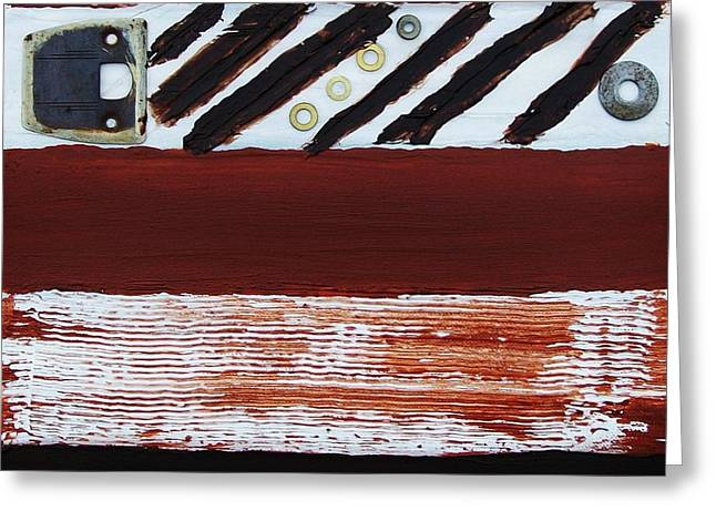 Rusty Pieces Greeting Card by Marsha Heiken
