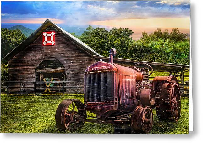 Mccormicks Farm Greeting Cards - Rusty Red Greeting Card by Debra and Dave Vanderlaan