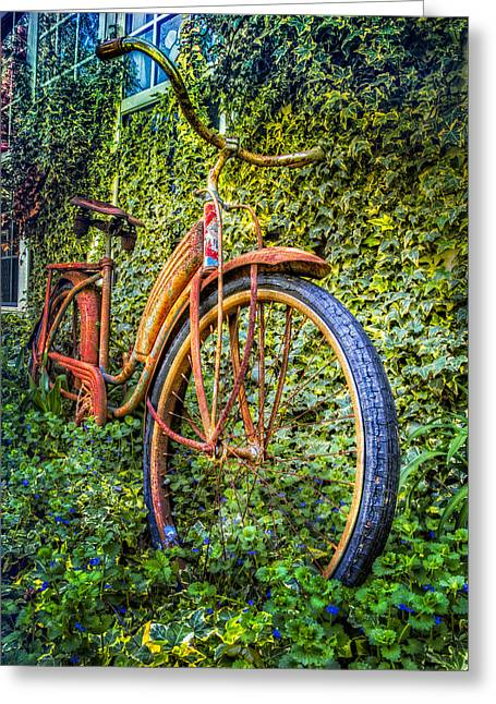 Tennessee Farm Greeting Cards - Rusty Rims Greeting Card by Debra and Dave Vanderlaan