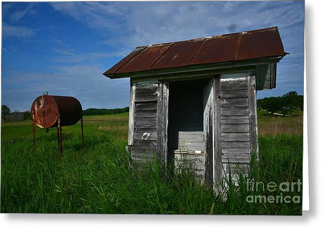 Tin Roof Greeting Cards - Rusty Greeting Card by Russie Marshall