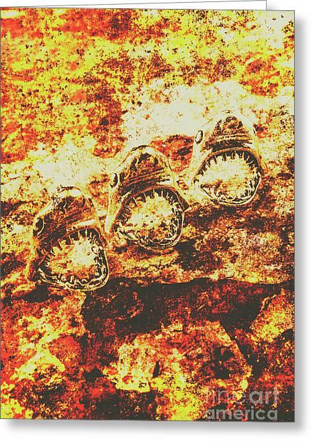 Rusty Shark Scene Greeting Card by Jorgo Photography - Wall Art Gallery