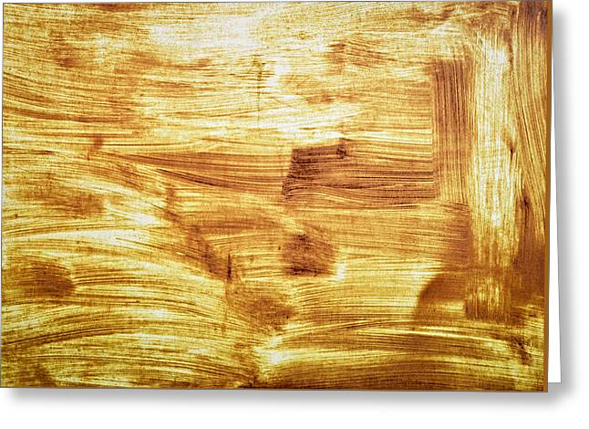 Rusty Sheet Metal Coating Greeting Card by Jozef Jankola