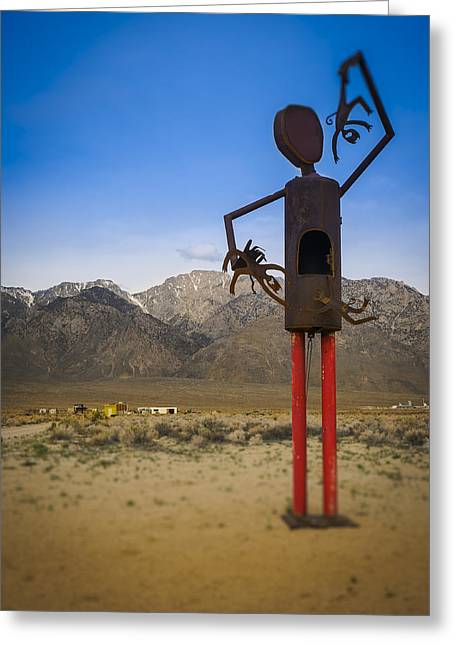 Roadside Art Greeting Cards - Rusty Greeting Card by Steve Spiliotopoulos