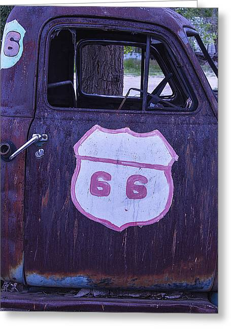 Destinations Photographs Greeting Cards - Rusty Truck Door Greeting Card by Garry Gay