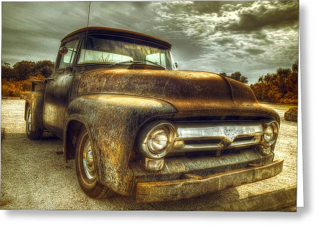 Antique Truck Greeting Cards - Rusty Truck Greeting Card by Mal Bray