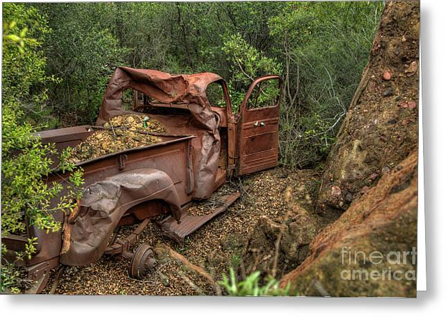 Rusty Trucks Greeting Cards - Rusty Truck Greeting Card by Marc Bittan