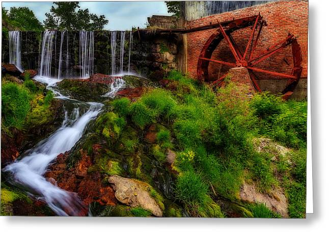 Mechanism Photographs Greeting Cards - Rusty Water Wheel Greeting Card by John Vose