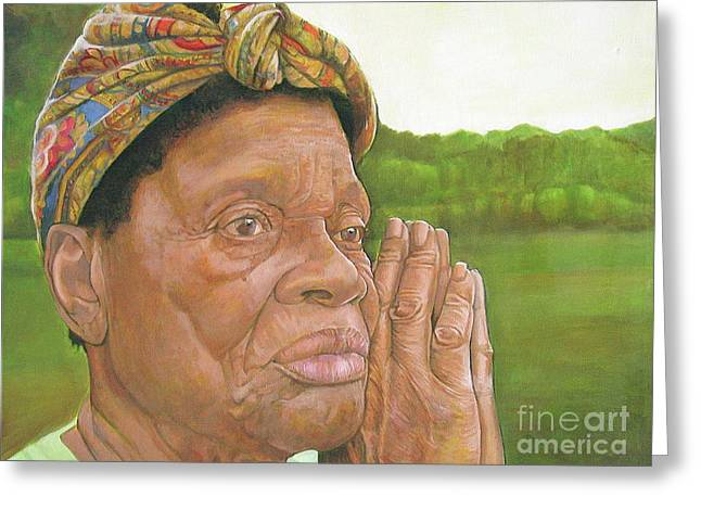 Artist Curtis James Greeting Cards - Ruth II Greeting Card by Curtis James