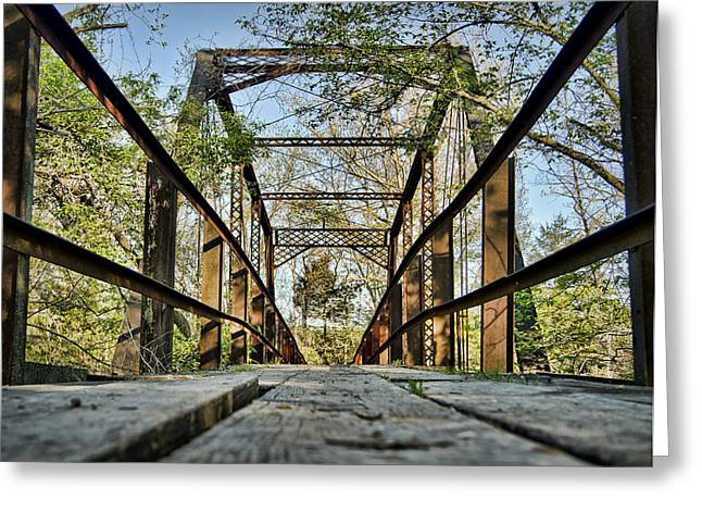 Cedar Creek Greeting Cards - Rutherford Bridge Greeting Card by Cricket Hackmann