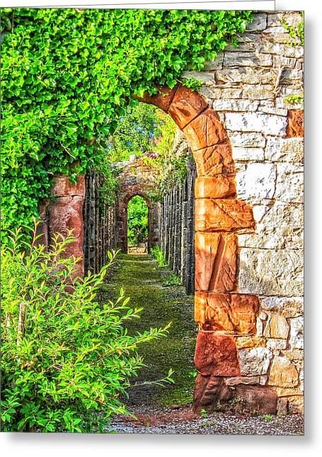 Mccoy Greeting Cards - Ruthin Arch Greeting Card by A Different Brian Photography