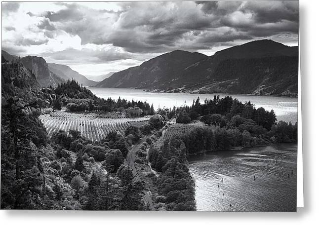 Hood River Oregon Greeting Cards - Ruthton Point Storm Greeting Card by Jon Ares