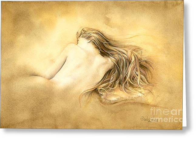 Raw Umber Greeting Cards - Ruw umber nude Greeting Card by David Evans