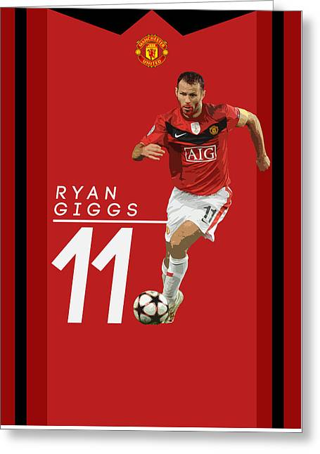 Ryan Giggs Greeting Card by Semih Yurdabak