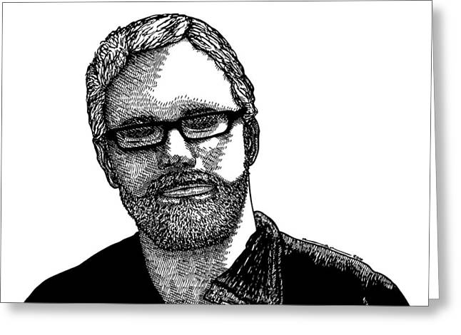 Awesome Drawings Greeting Cards - Ryan Greeting Card by Karl Addison