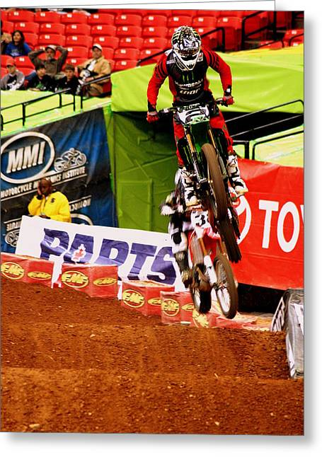 Supercross Greeting Cards - Ryan Villopoto Greeting Card by Jason Blalock
