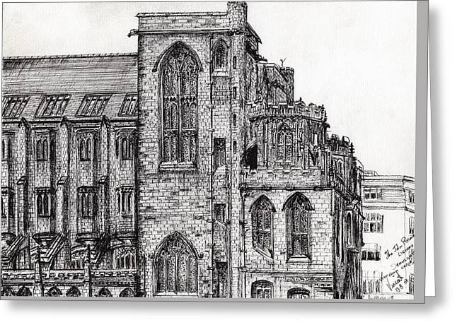 Rylands Library Greeting Card by Vincent Alexander Booth