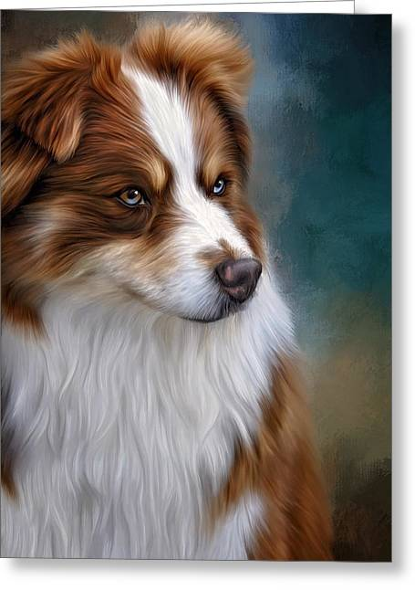 Shepherds Greeting Cards - Ryley Greeting Card by Sandy Oman