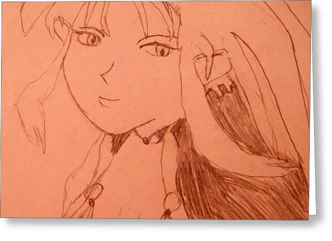 Ryoko Greeting Card by April Patterson