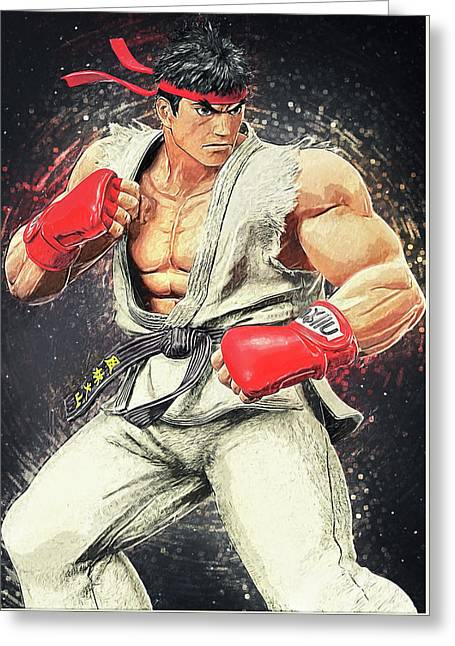 Ryu - Street Fighter Greeting Card by Taylan Soyturk