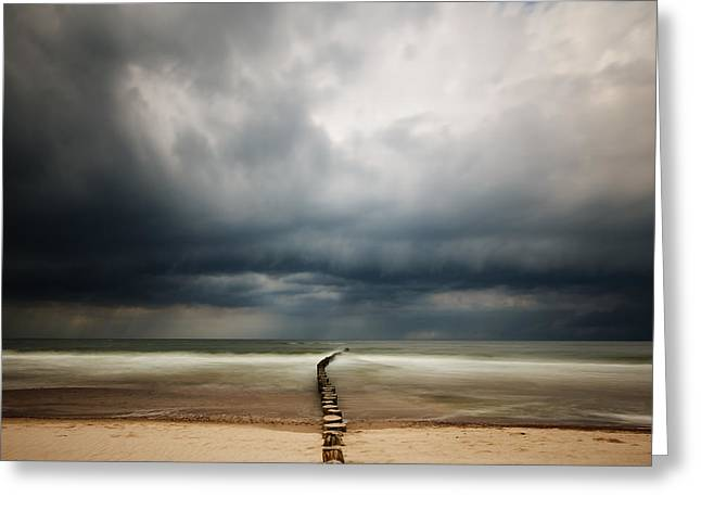 Beach Landscape Greeting Cards - S Greeting Card by Piotr Krol (bax)