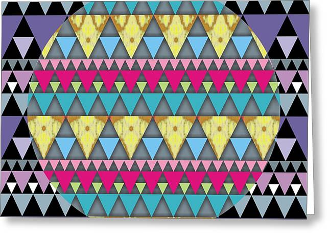 S-pyramids 1 Greeting Card by Walter Oliver Neal