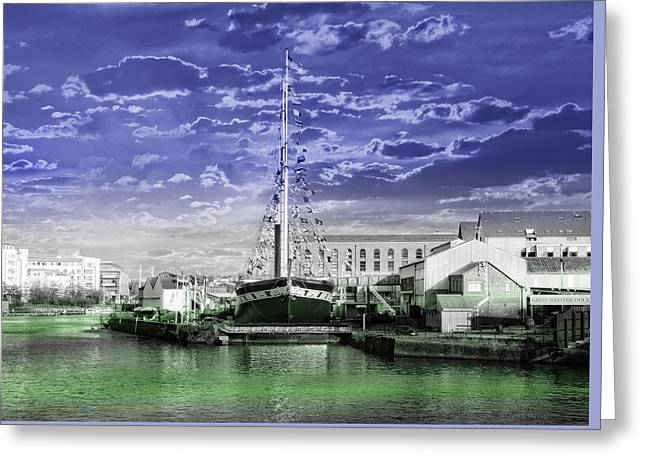 Ocean Sailing Greeting Cards - S S Gt Britain Greeting Card by Alex Hardie