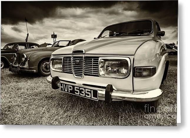 Rally Greeting Cards - Saab 96 Greeting Card by Rob Hawkins