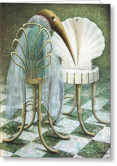 Imaginary World Greeting Cards - Saba Greeting Card by Lolita Bronzini