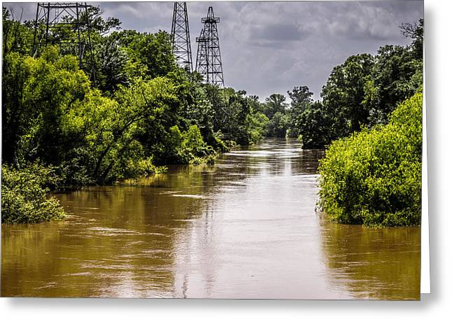River Flooding Greeting Cards - Sabine Rising Greeting Card by Darrell Clakley