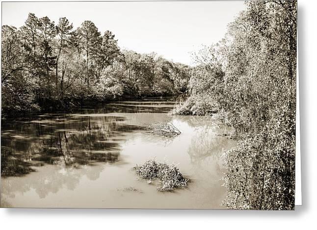 Sabine River Near Big Sandy Texas Photograph Fine Art Print 4081 Greeting Card by M K  Miller