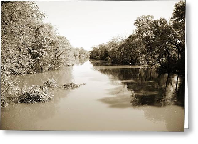 Sabine River Near Big Sandy Texas Photograph Fine Art Print 4086 Greeting Card by M K  Miller