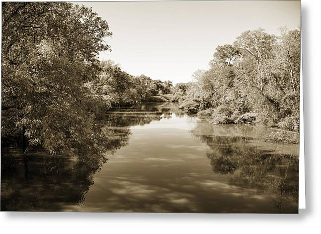 Sabine River Near Big Sandy Texas Photograph Fine Art Print 4089 Greeting Card by M K  Miller