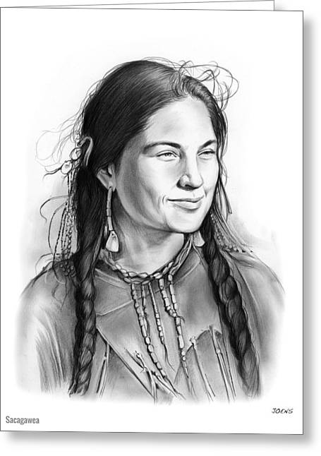 Sacagawea Greeting Card by Greg Joens