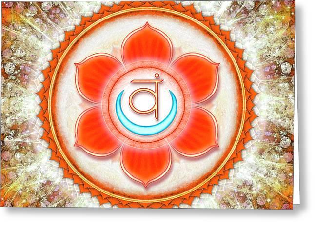 Sacral Chakra - Series 6 Greeting Card by Dirk Czarnota
