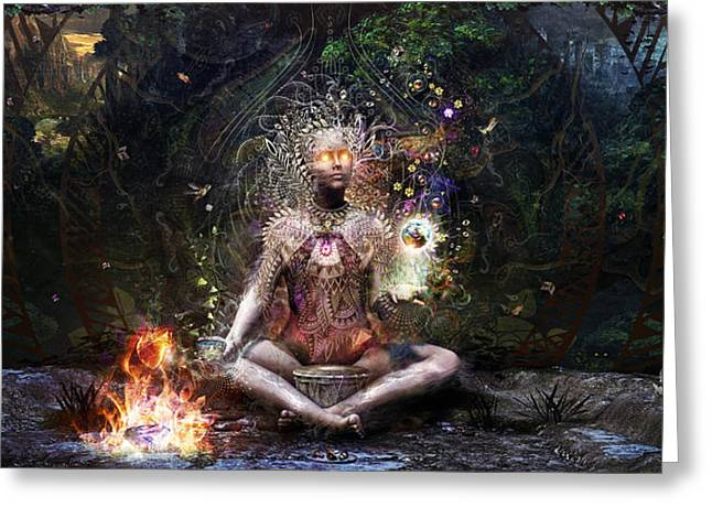 Large Digital Greeting Cards - Sacrament For The Sacred Dreamers Greeting Card by Cameron Gray