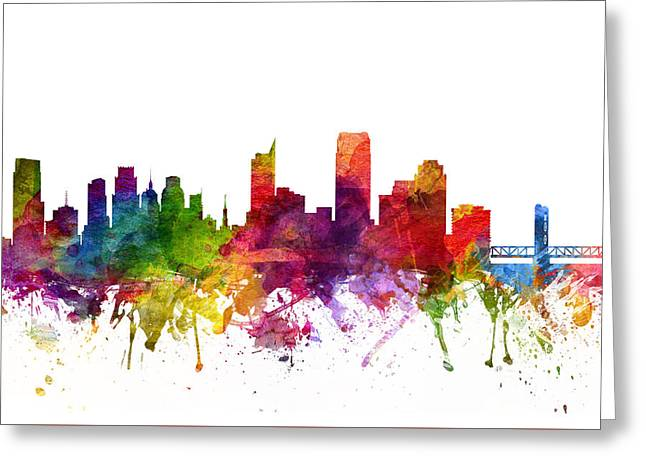 Sacramento Greeting Cards - Sacramento Cityscape 06 Greeting Card by Aged Pixel