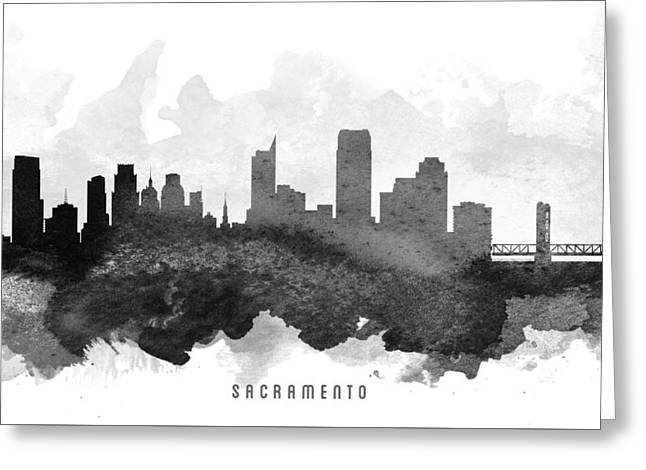Sacramento Greeting Cards - Sacramento Cityscape 11 Greeting Card by Aged Pixel