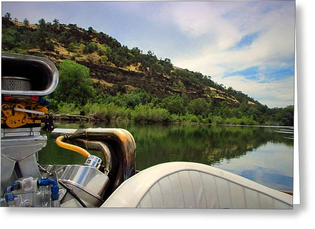 Sacramento River Beauty From The Boat Greeting Card by Joyce Dickens