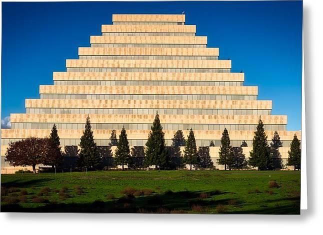 Sacramento's Ziggurat Greeting Card by Mountain Dreams