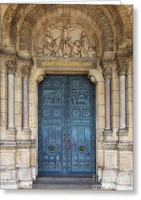 French Doors Greeting Cards - Sacre Coeur Doorway Greeting Card by Brian Jannsen