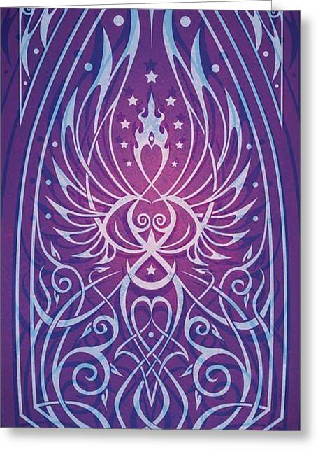 Spiral Greeting Cards - Sacred Feminine Greeting Card by Cristina McAllister