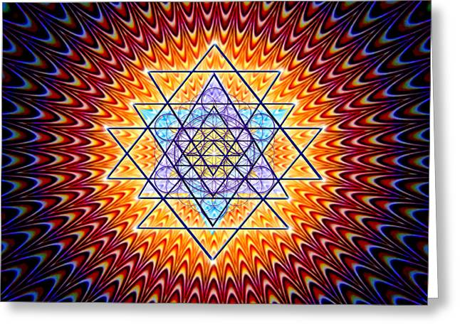 Spiritual Art Photos Greeting Cards - Sacred Geometry 141 Greeting Card by Endre Balogh