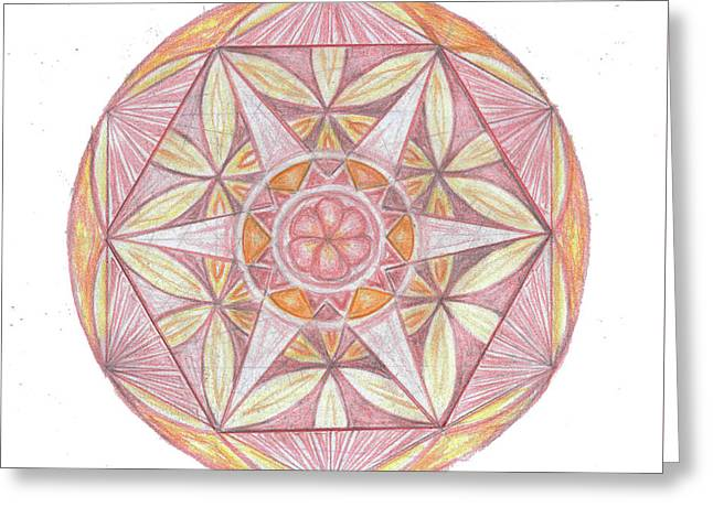 Sacred Drawings Greeting Cards - Sacred Geometry hand drawing Greeting Card by Cveta Dinkova