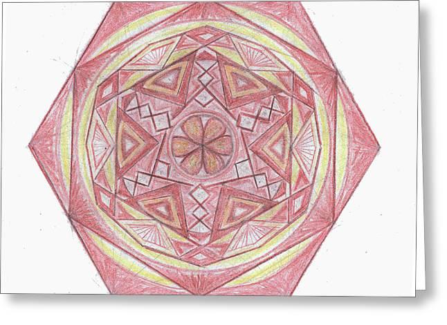 Sacred Drawings Greeting Cards - Sacred geometry of the Universe 1 Greeting Card by Cveta Dinkova
