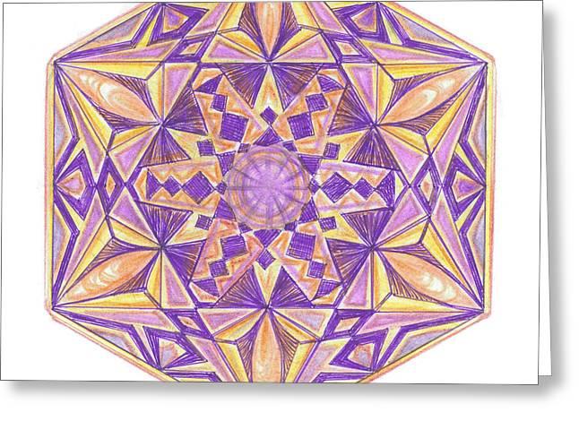 Sacred Drawings Greeting Cards - Sacred Geometry of the Universe 6 Greeting Card by Cveta Dinkova
