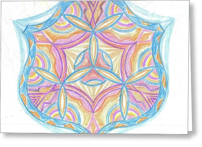 Sacred Drawings Greeting Cards - Sacred geometry of the Universe Greeting Card by Cveta Dinkova