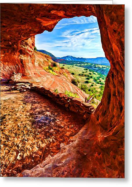 Caves Greeting Cards - Sacred Ground - Shamans Cave 2 Greeting Card by Bill Caldwell -        ABeautifulSky Photography